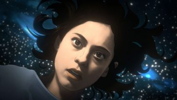 Rosa Salazar floats in space in Amazon's rotoscoped Undone series