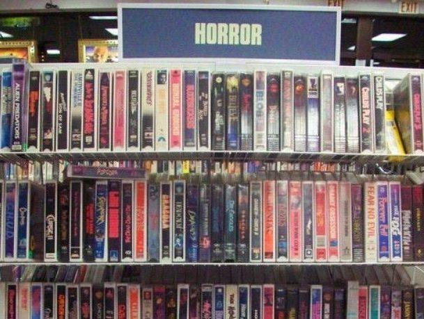 Blockbuster's horror section