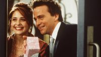 "Sarah Michelle Gellar and Sean Patrick Flannery star in the guiltfree pleasure rom-com ""Simply Irresistible"""