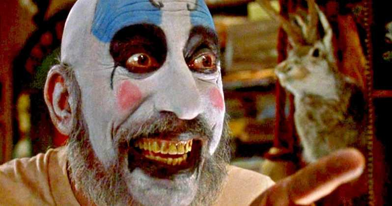 Captain Spaulding grins and points his finger