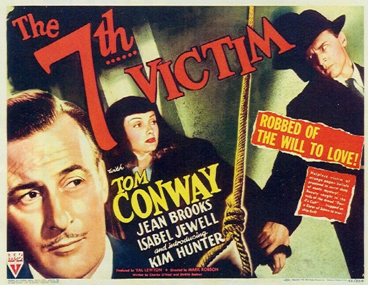 Movie poster: a noose hangs down the middle; behind it a man and woman hold hands; on the left, close-up of another man