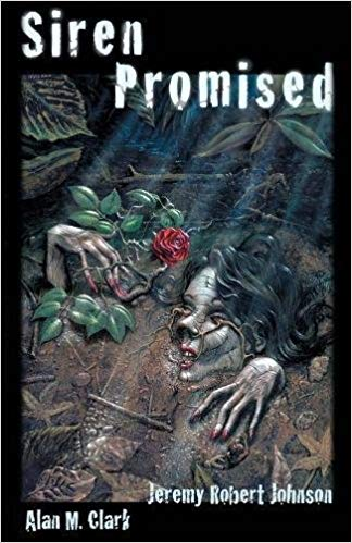 The cover of Siren Promised, showing a mostly buried corpse holding a rose