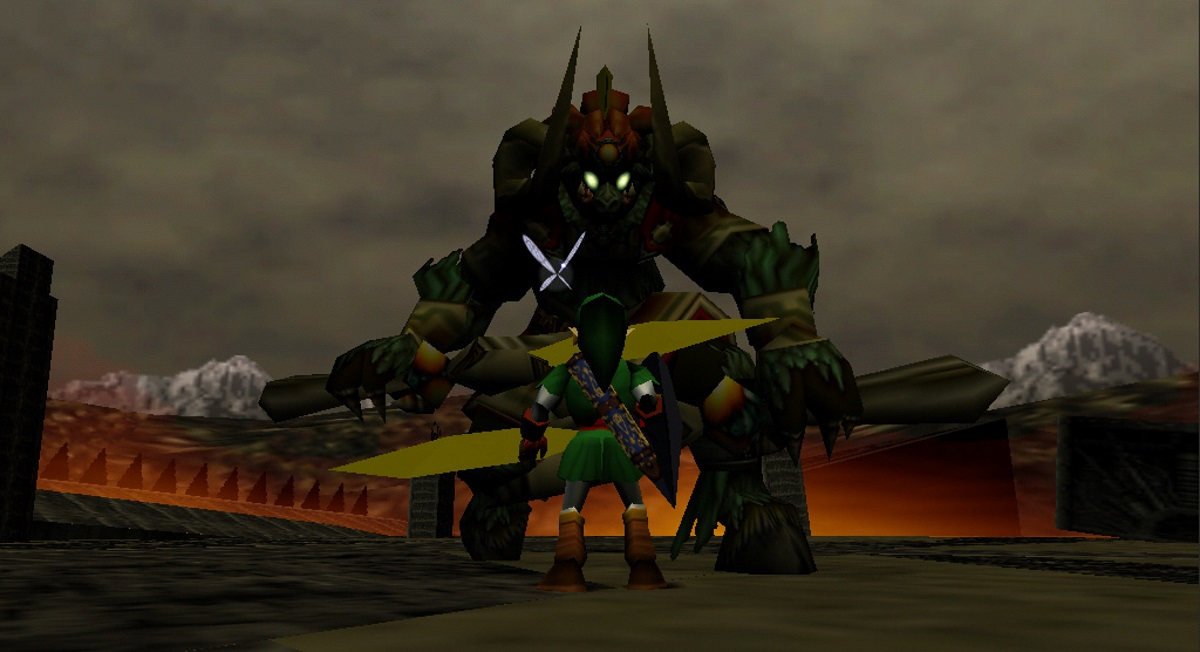 Link squares up to the enormous Ganon