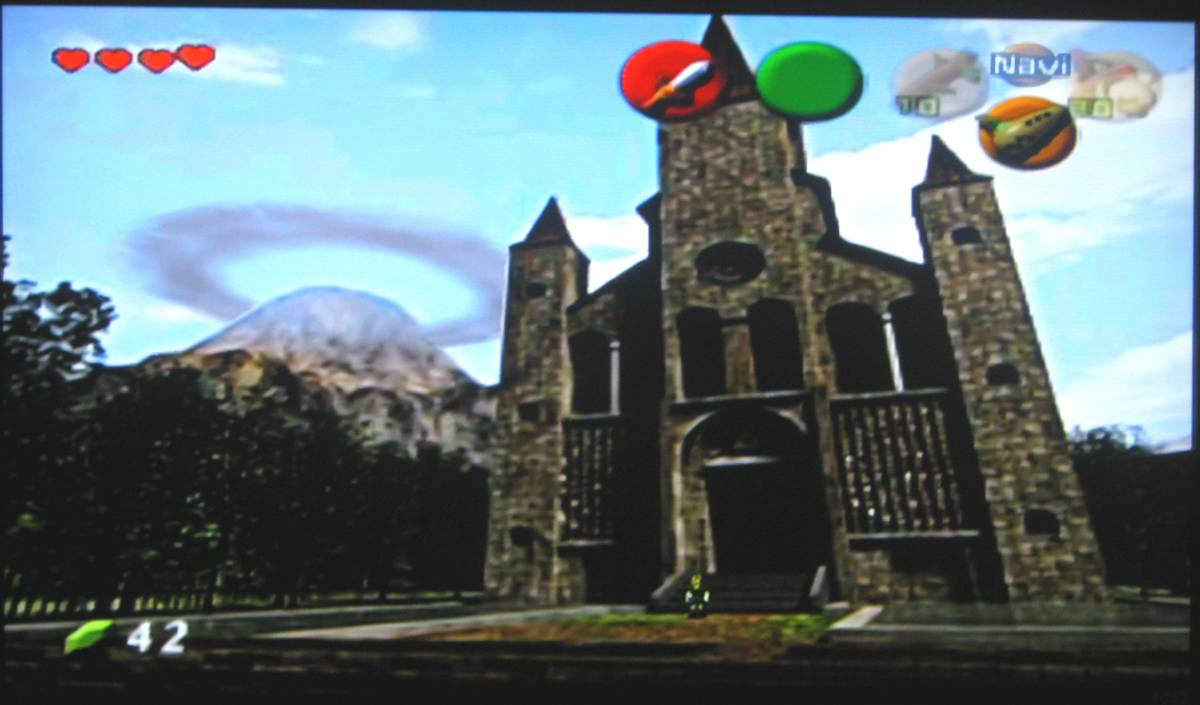 Screenshot of the Temple of a Time and Mt. Doom