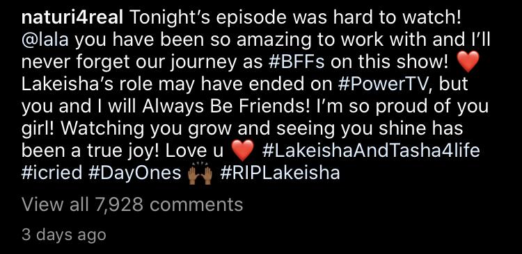 Naturi bids farewell to Lakeisha on Instagram