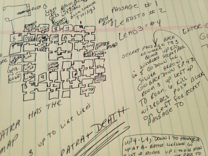 A hand drawn, detailed map of Level 9, from the author's mother. Map courtesy of Roxanne Malloy.