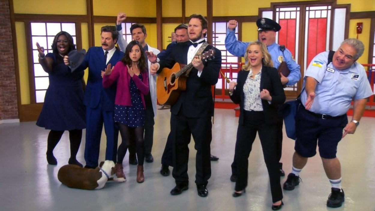 The whole cast and Andy sing the Goodbye Song. Andy plays guitar, and Champion the dog is there, and everyone else strikes a karate pose.