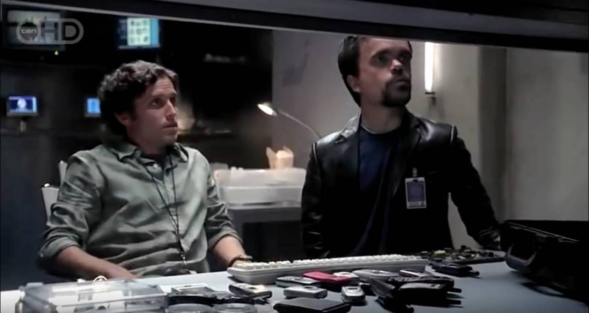 Peter Dinklage and Rob Benedict in a scene from Threshold