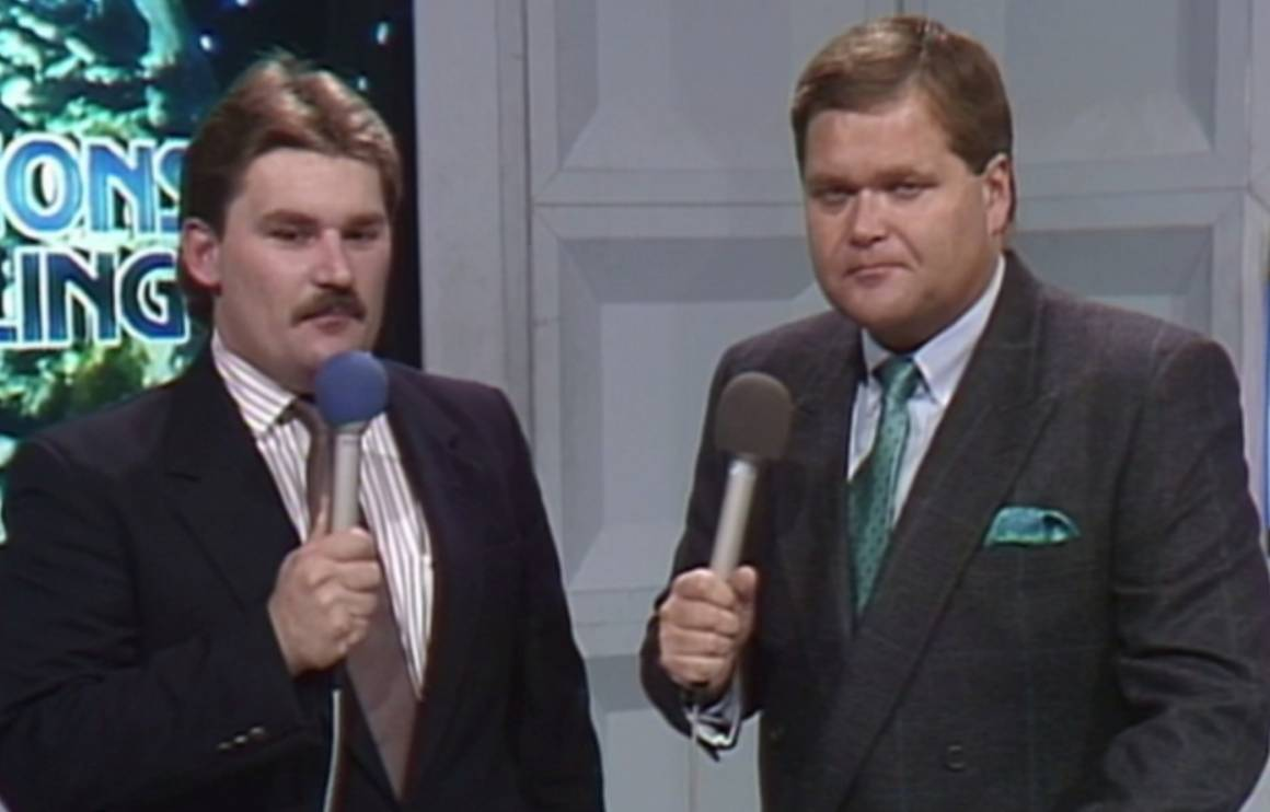 Tony Schiavone and Jim Ross when they worked with WCW