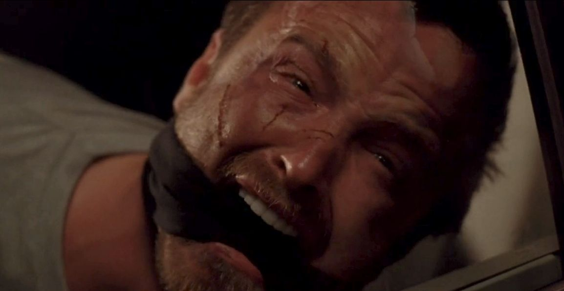 A gagged Jesse screams and cries as he watches Todd murder Andrea