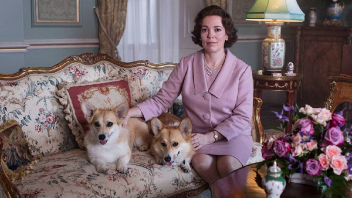 The Queen and her corgis