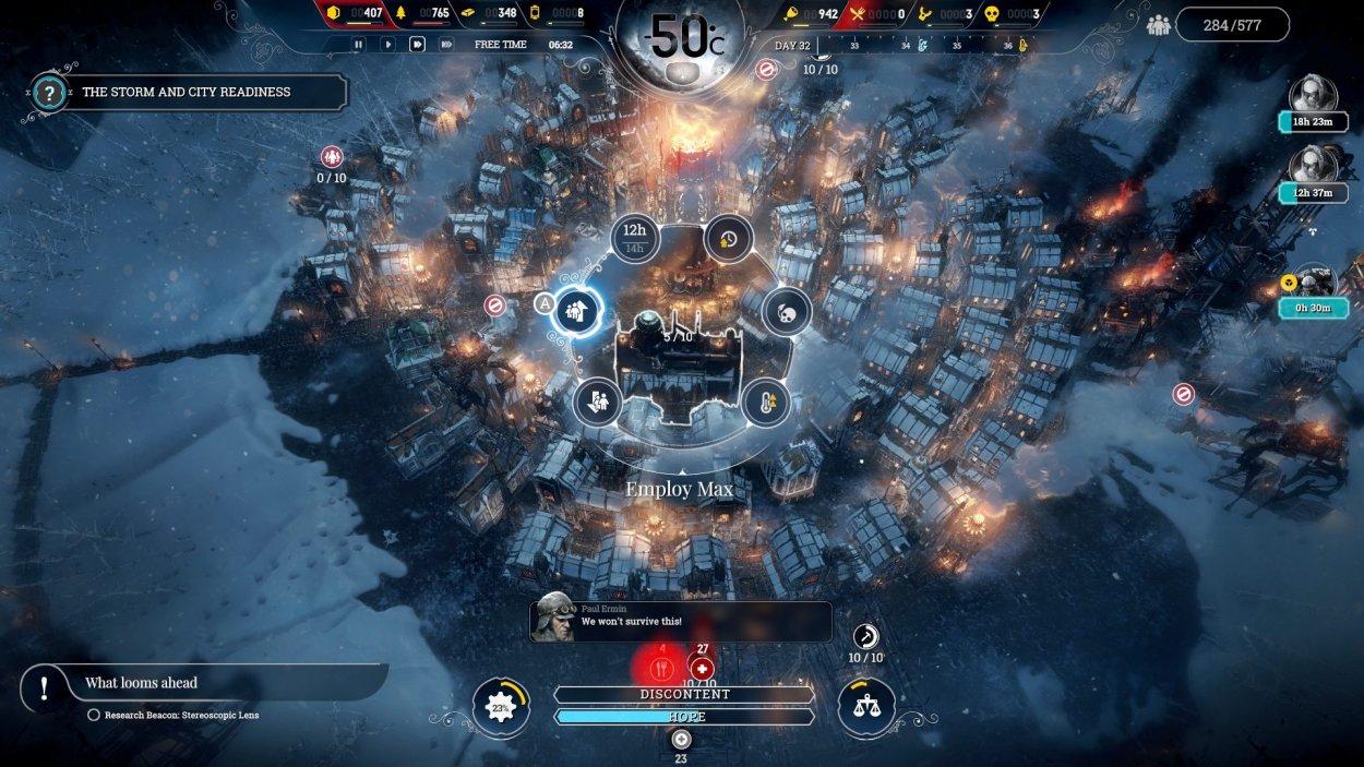 Frostpunk city screenshot