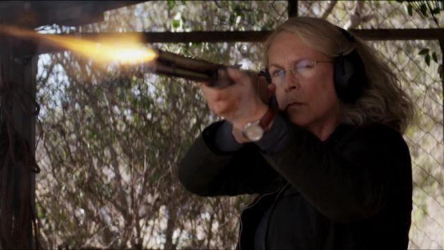 Laurie Strode fires a gun