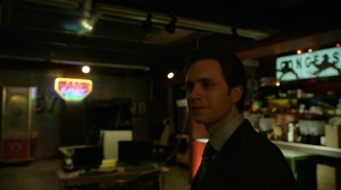 Tyrell in the arcade in Mr. Robot