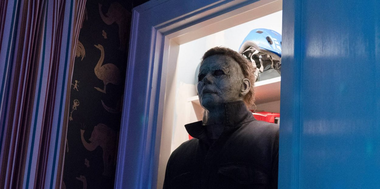 Michael Myers hiding in a closet
