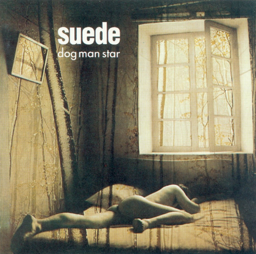 A painting of a person laying naked on their bed. The window is open and light is streaming in despite the depressing vibe of the sepiatone color.