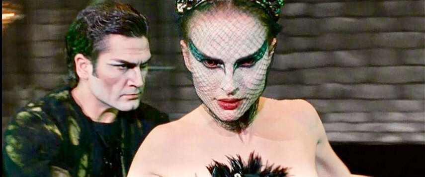 Nina performing as The Black Swan