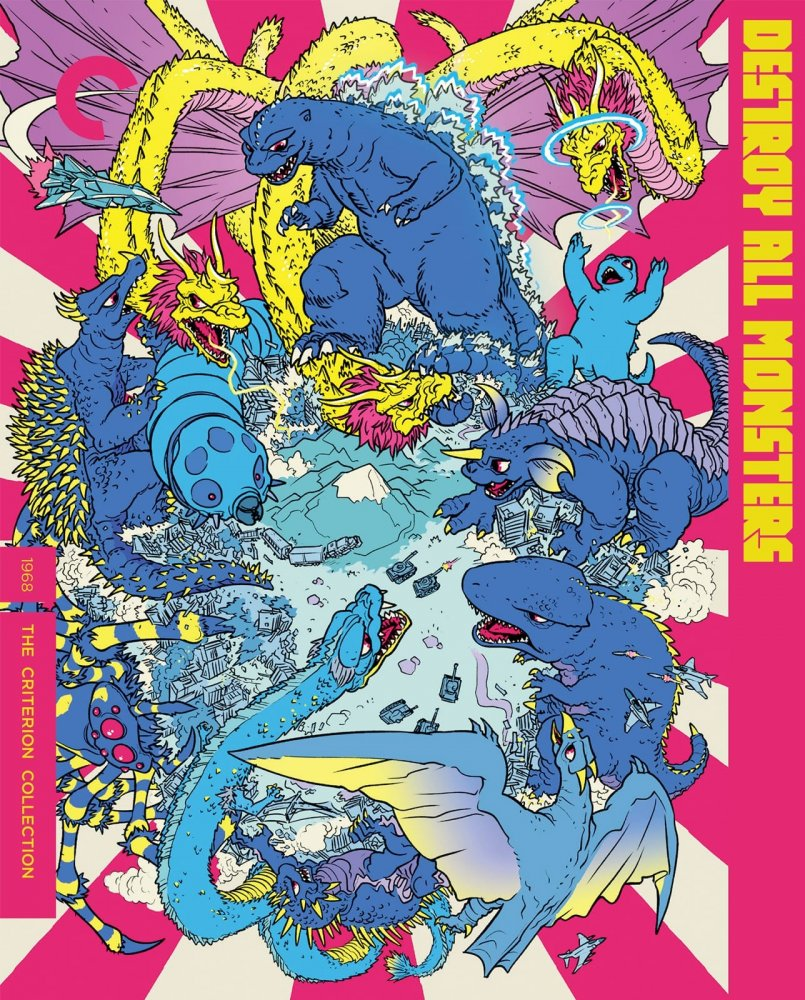 Many kaiju fight each other