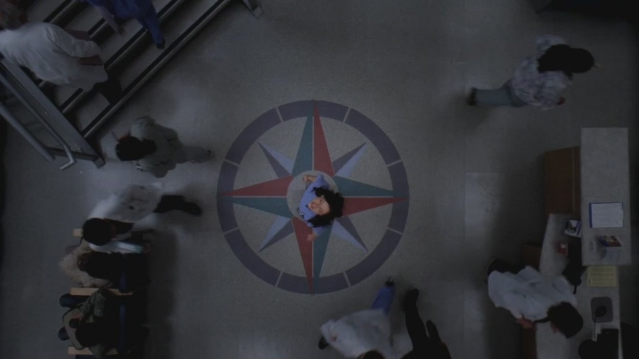 Lexie Grey wonders the halls looking for Mark while still trying to control her own emotions.
