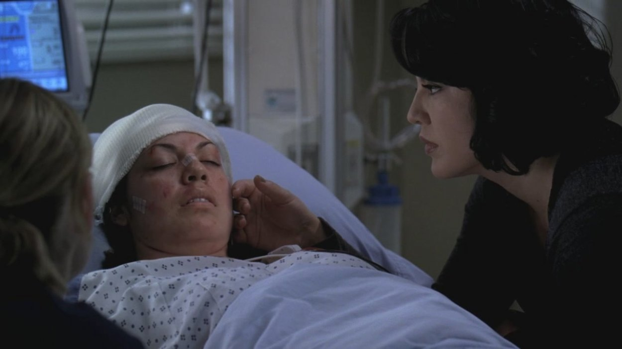 Callie's spirit sings to her unconscious body.