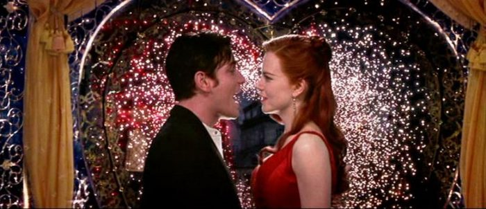 Sparks fly around Christian (Ewan McGregor) and Satine (Nicole Kidman) in Moulin Rouge