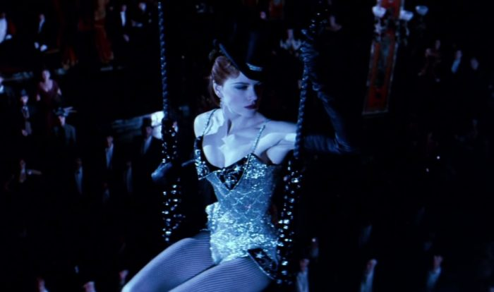 Satine (Nicole Kidman) makes a grand entrance in Moulin Rouge