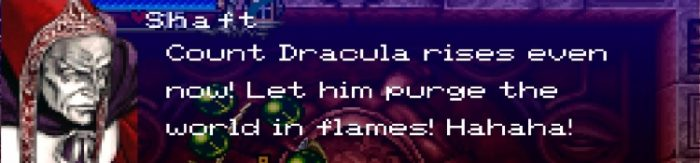 """Dark priest Shaft gloats, """"Count Dracula rises! Let him purge the world in flames!"""""""