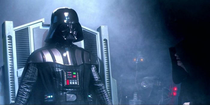 Newly formed Sith Lord Darth Vader asks The Emperor about Padme's fate in the conclusion to Star Wars Episode III