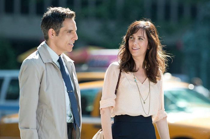 Walter Mitty and Cheryl Melhoff sharing a laugh strolling the streets of New York