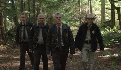Bobby Briggs leads Andy, Hawk, and Sheriff Truman to Jack Rabbit's Palace