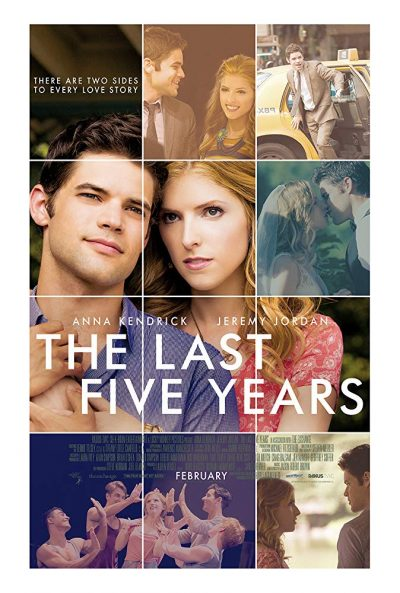 "The 2014 theatrical poster for ""The Last Five Years"" clusters city and romantic imagery"