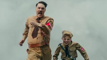 Jojo Rabbit and Hitler run together