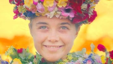 Dani smiles as she finds peace in Midsommar