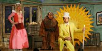 From left to right, Dee as The Princess, Frank as the Troll, and Charlie as Dayman on stage in The Nightman Cometh