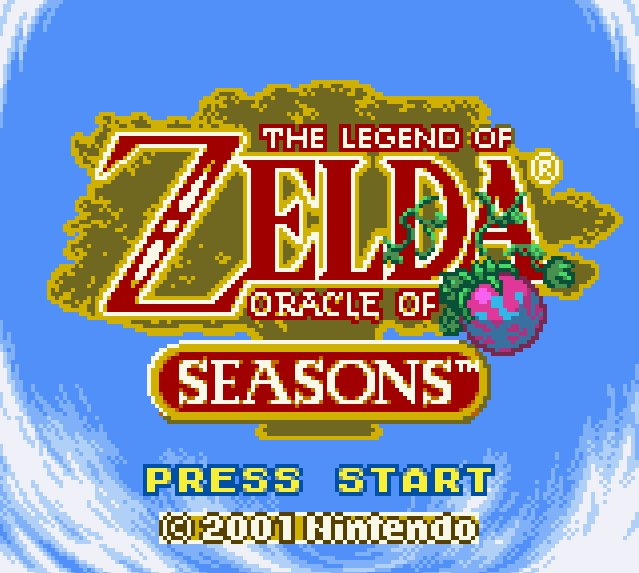 The Legend of Zelda: Oracle of Seasons Title Screen