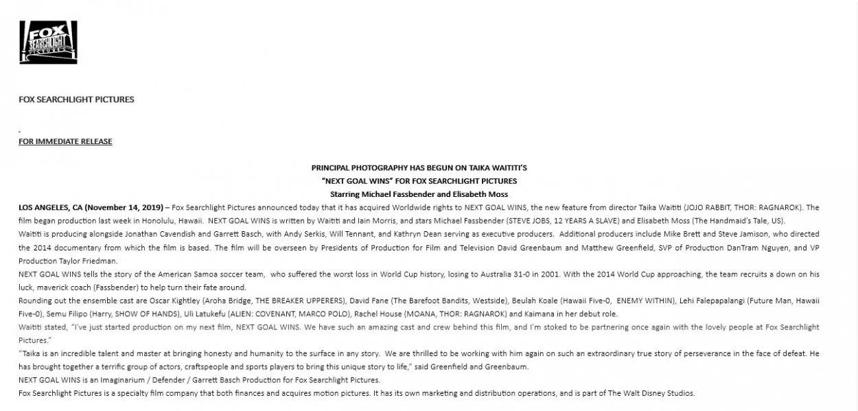 Next Goal Wins press release