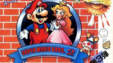 Mario and Princess Toadstool on the cover of Super Mario Bros 2