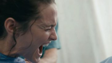 Mary screams as she gives birth in the hospital in Still/Born