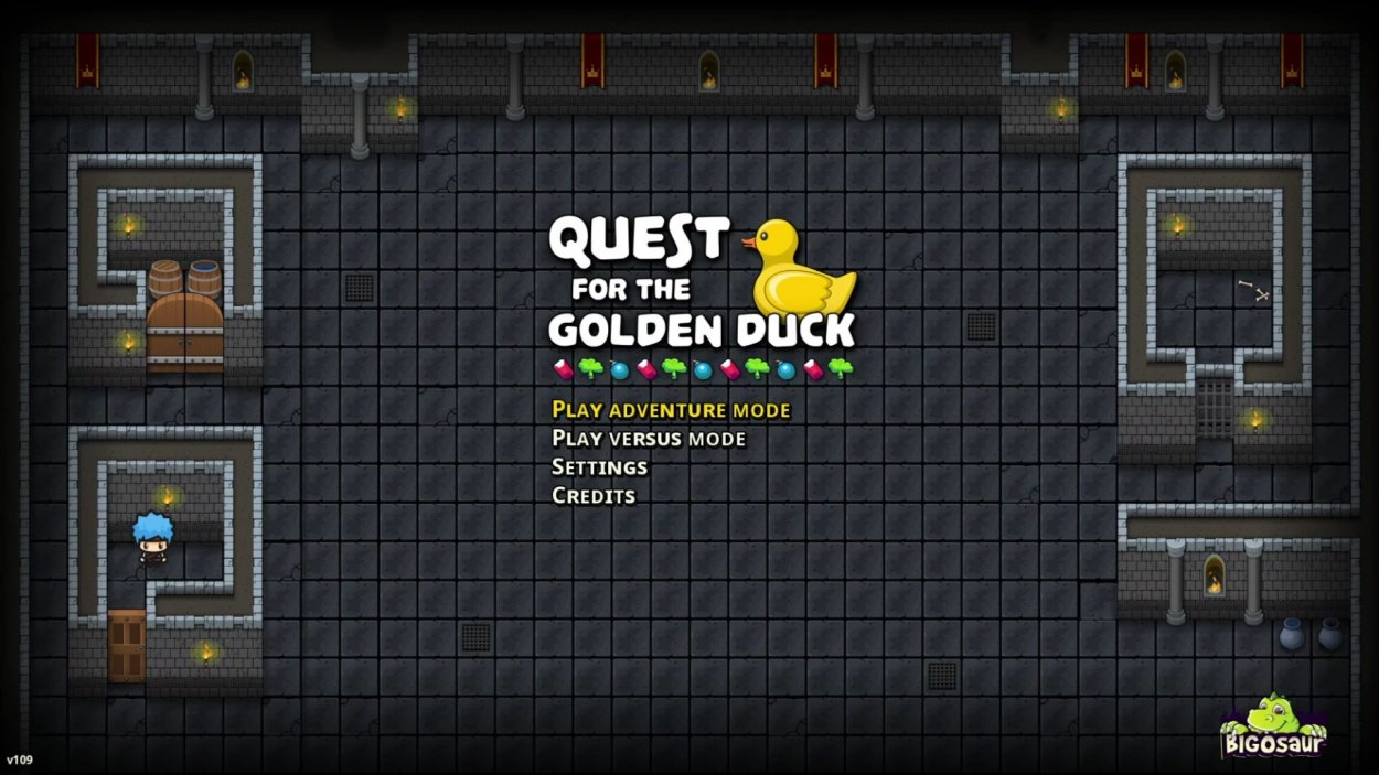 Quest for the Golden Duck Title Screen