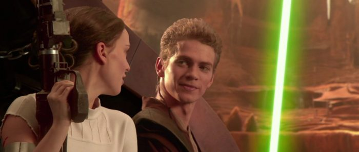 anakin and padme in attack of the clones