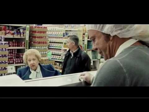 Randy working at the deli, dealing with difficult, old aged customer