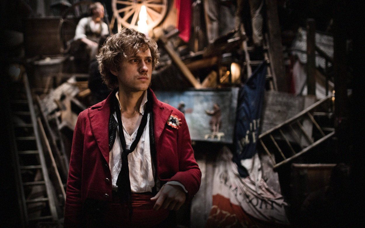 Aaron Tveit as Enjolras in les miserables