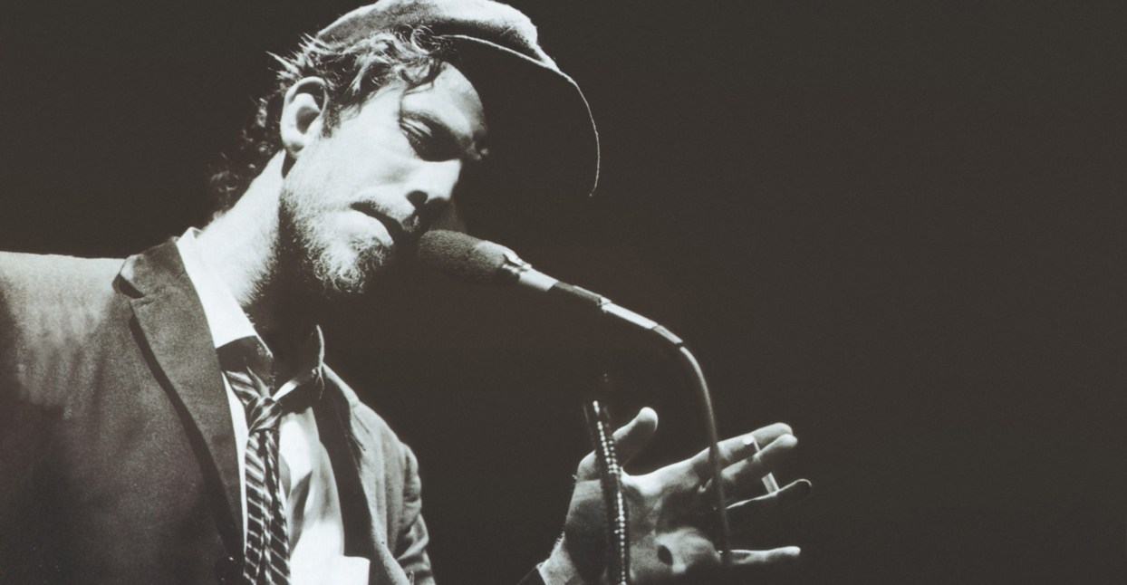 Tom Waits on stage