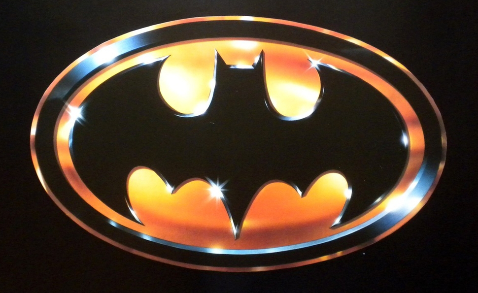 The iconic Batman '89 logo