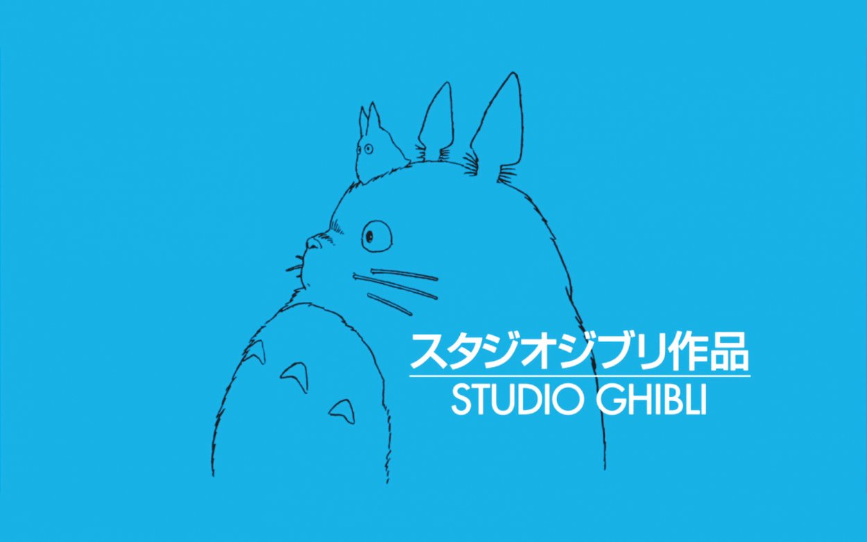 The Studio Ghibli logo, a sketch of Totoro