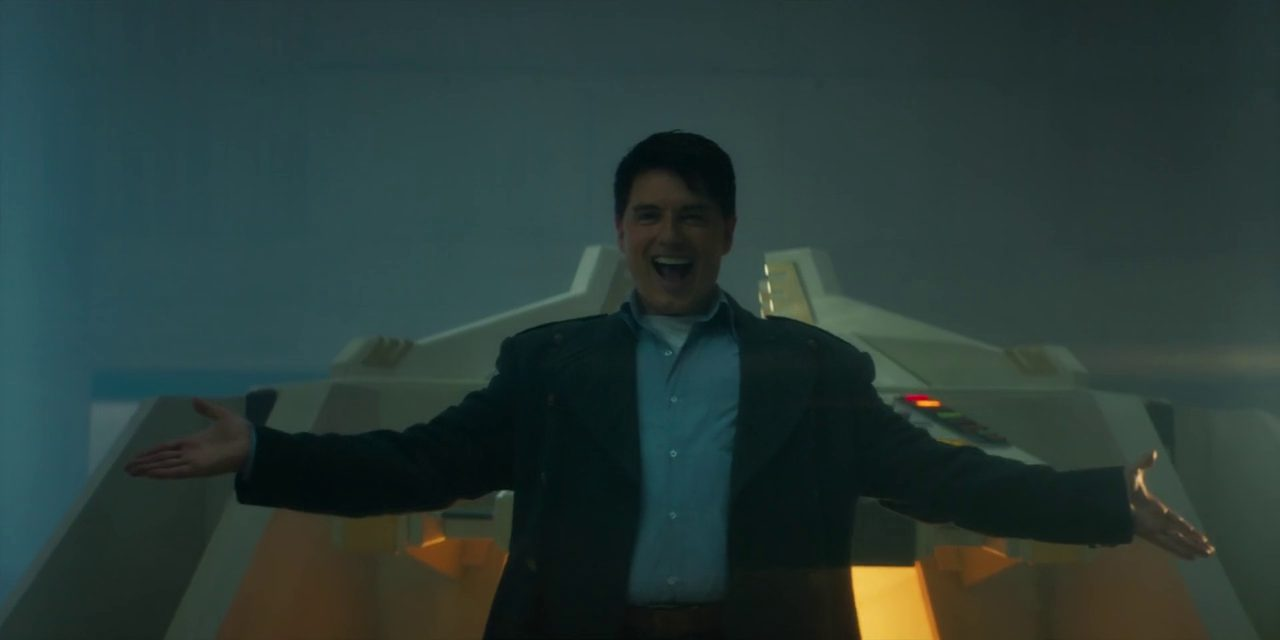 "Captain Jack Harkness holds his arms open in Doctor Who S12E4 ""Fugitive of the Judoon"""