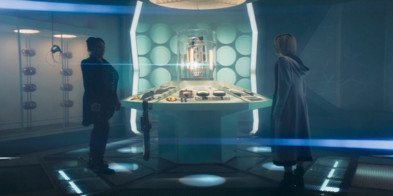 "Two Doctors face each other in a new TARDIS in Doctor Who S12E5 ""Fugitive of the Judoon"""