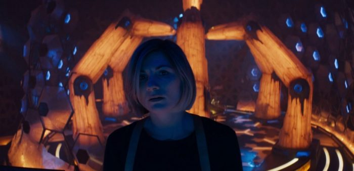 "The Doctor (Jodie Whittaker) stares off into the distance in Doctor Who's ""Spyfall Part 2"""