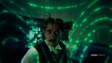 "Tesla is scanned by alien technology in Doctor Who ""Tesla's Night of Terror"""