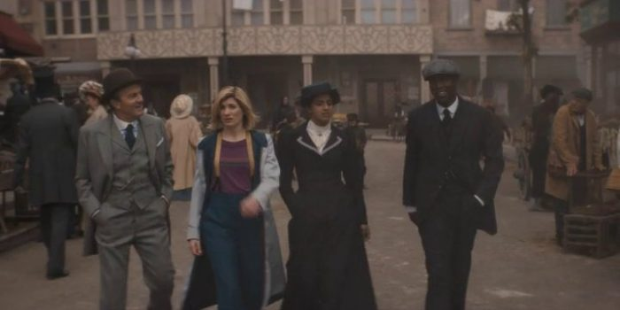 "The TARDIS fam takes a stroll through 1900s New York City in Doctor Who ""Tesla's Night of Terror"""